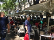 Check out McDonalds outdoor dining on Ramblas...