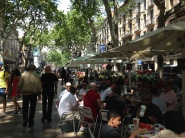 Mickey D's in Barcelona...Prime Real Estate on Las Ramblas...Yep even I may go for a Quarter Pounder...cheapest restaurant with the best view!