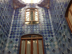 Some Gaudi Tile  work and use of light