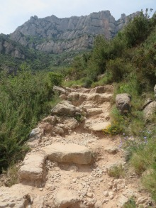 Making my way up and up the trail at Monserrat