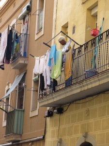 Local woman doing laundry on Saturday