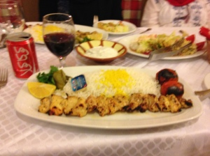 Dinner...Love those Kabobs