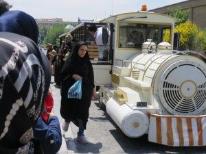 Our Tram we took in Tehran...reminded me of Disney