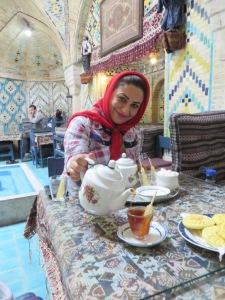 Fatemeh serving us some amazing Tea