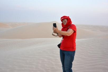 Em selfie in Desert Tunisia