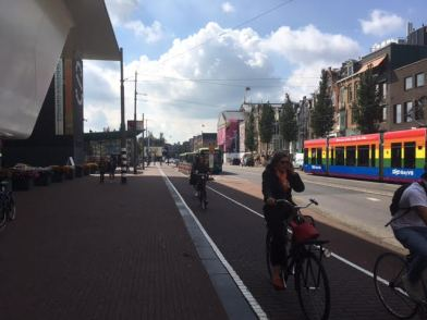 bike with rqainbow tram